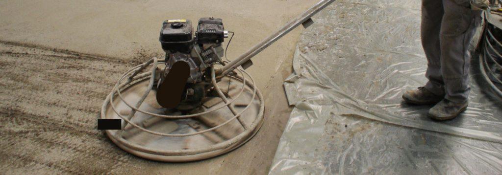 Industrieboden Stahlfaserbeton glätten