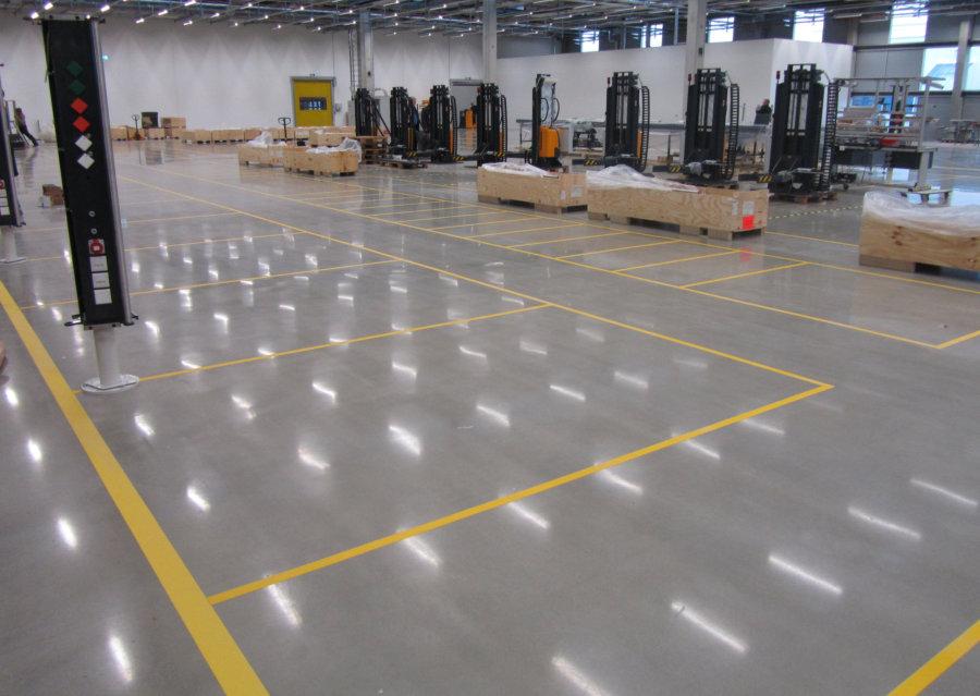 Industrieboden Produktionshalle