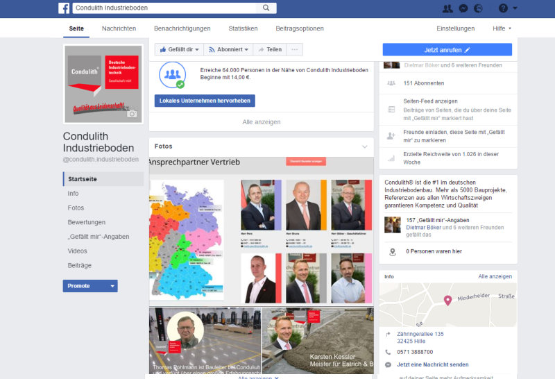 Condulith Industrieboden Facebook Business Seote