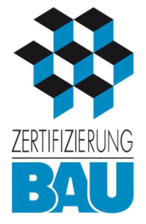 Logo Zertifizierung Bau für Condulith Industrieboden