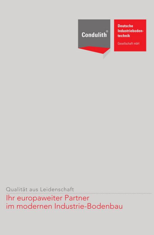 Condulith Industrieboden Partnerprospekt