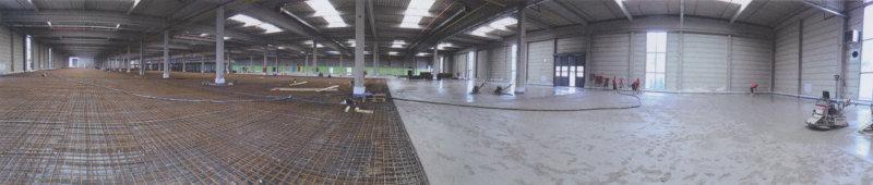 Cnondulith-Industrieboden 24.000 qm bei Wago in Minden