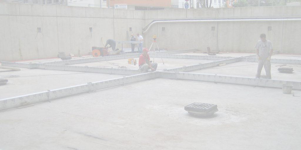 Condulith-Industrieboden Einbau Fugenprofil