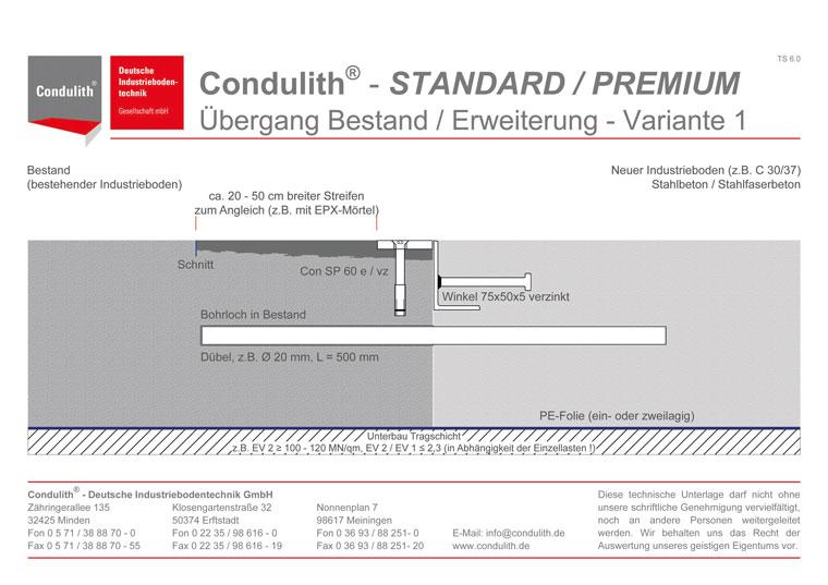 Condulith-Industrieboden Kreuzpunktbewehrung