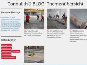Condulith-Industrieboden der Condulith® BLOG
