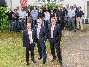 Condulith-Industrieboden Geschäftsführung Herr Böker, Herr Rudloff, Herr Vonderlind und Vertriebsteam