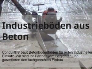Condulith Industrieboden Übersicht der Produkte und Lesitungen zur Hestellung von In dustrieböden aus Beton
